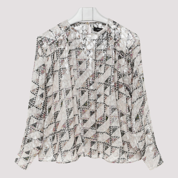 Pleated printed top