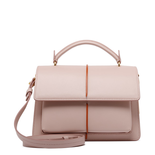 Pink leather Attache' bag
