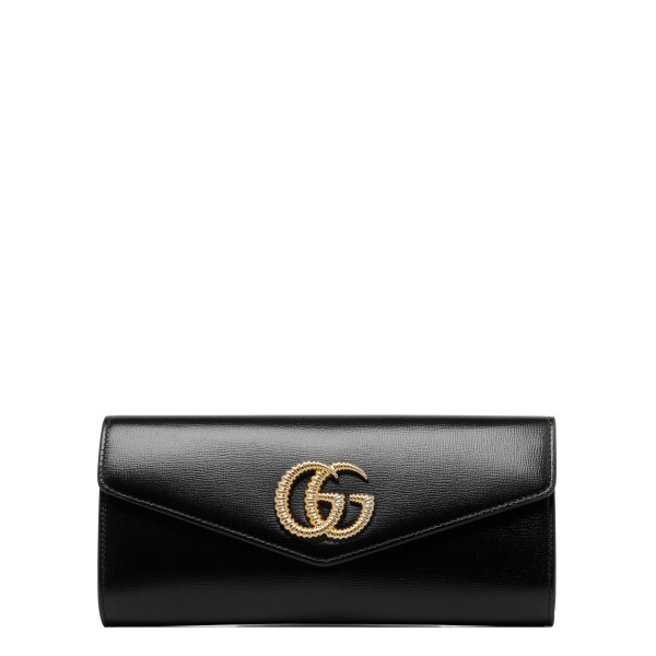 Broadway leather clutch with Double G