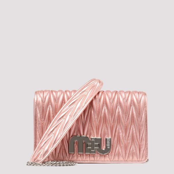 Metal Pink matelassé shoulder bag