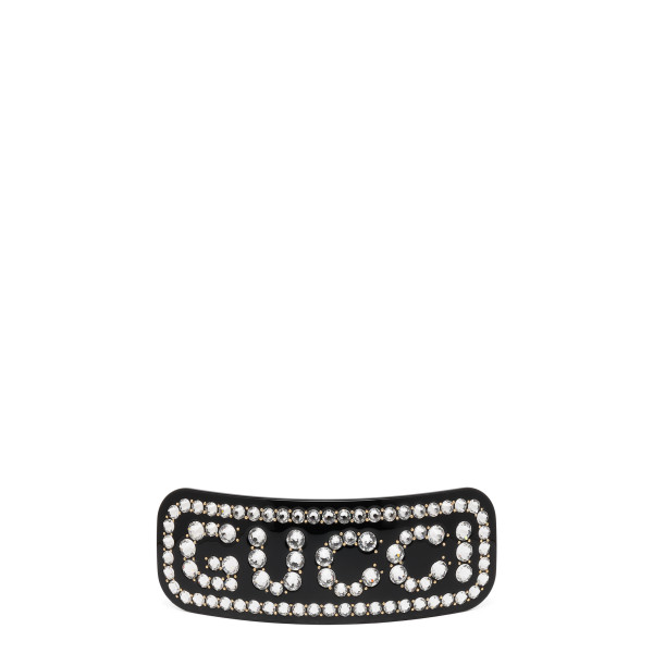 Logo single hair barrette
