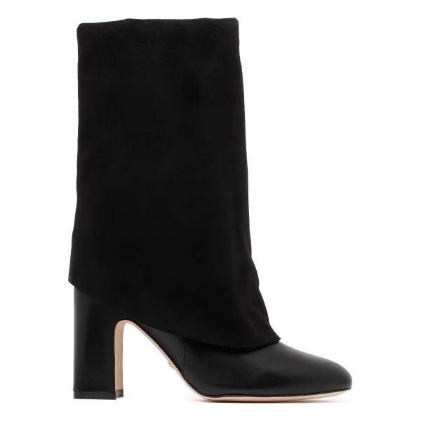 Black Lucinda foldover boots