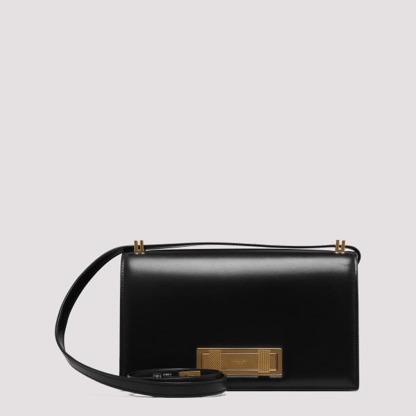 Black leather medium Domino...