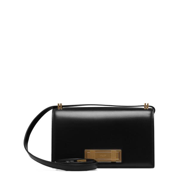 Black leather medium Domino bag