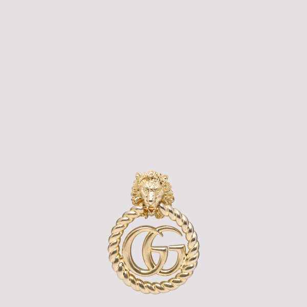 Lion head earring with...