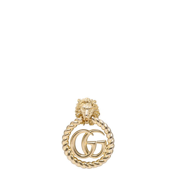 Lion head earring with Double G