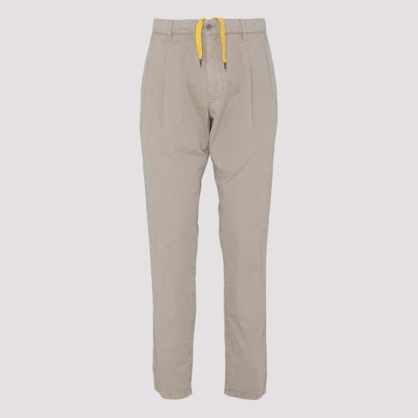 Beige straight-leg chino pants