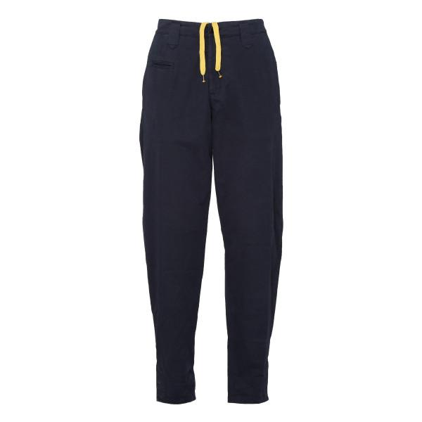 Blue tapered-leg chino pants