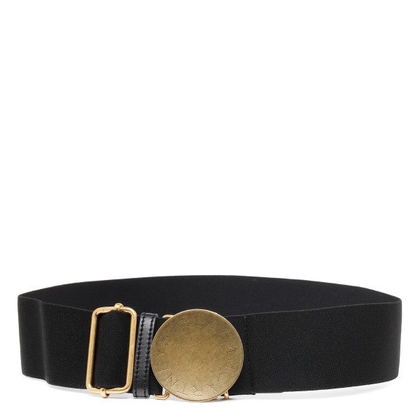 Black stretch fit belt