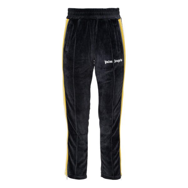 Black and White Chenille Track Pants