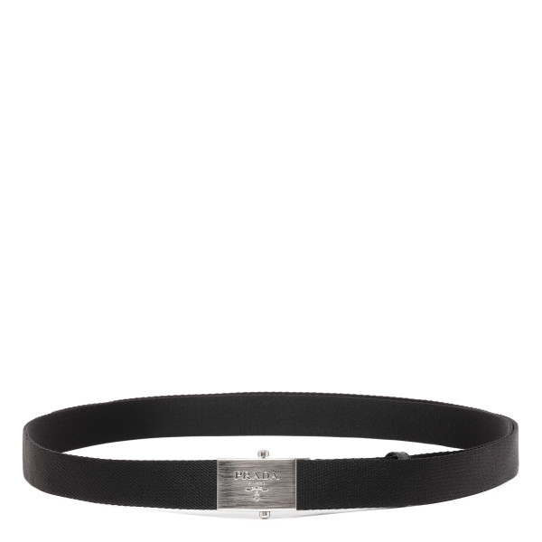 Black tech fabric belt