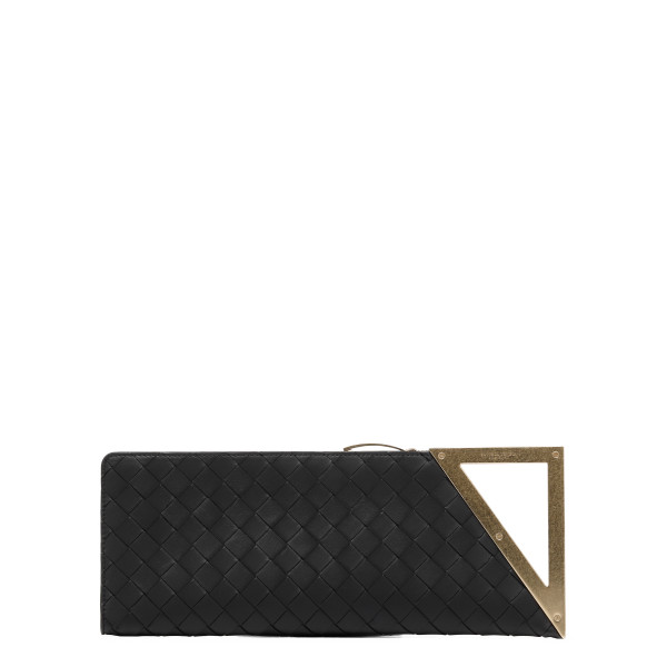Black BV Rim maxi intreccio clutch