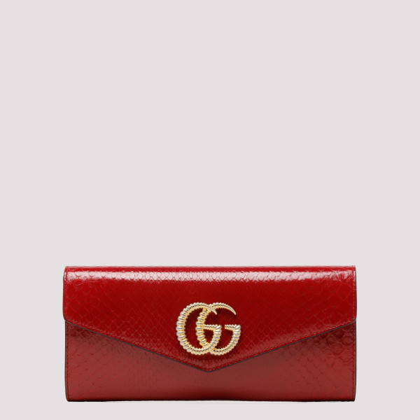 Broadway red python clutch