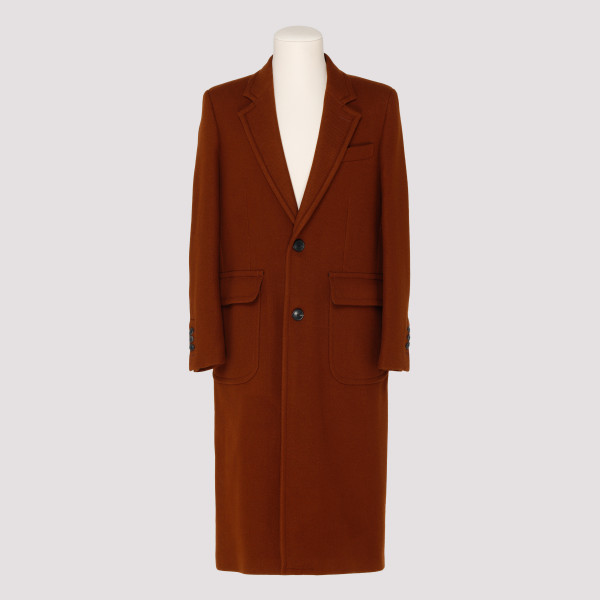 Brown Patched Pockets Coat