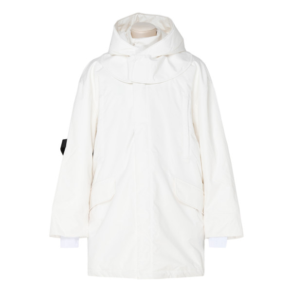 White Oversized padded shell ski jacket