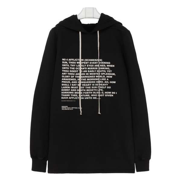 Black pullover with hood