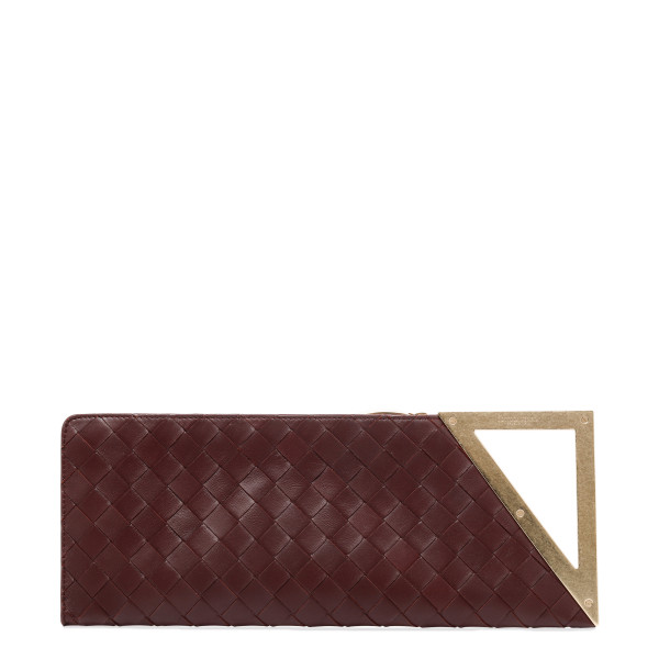 Bordeaux BV Rim maxi intreccio clutch