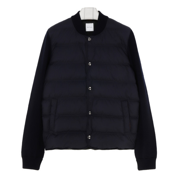 Navy Padded wool and shell jacket