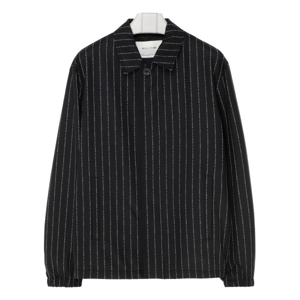 Black logo stripes jacket