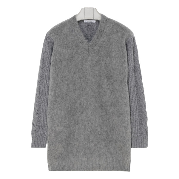 Gray wool and cashmere sweater