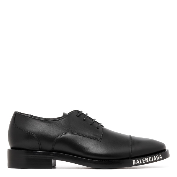 Black soft derby shoes