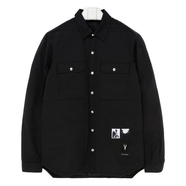 Black single-breasted fitted jacket