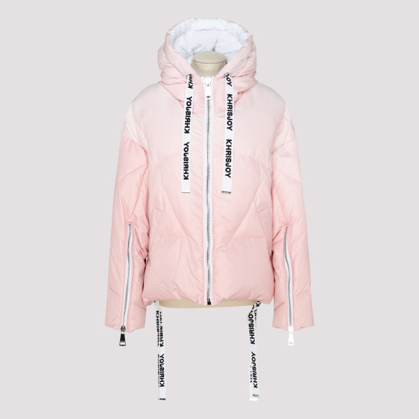 Pink quilted puffer jacket