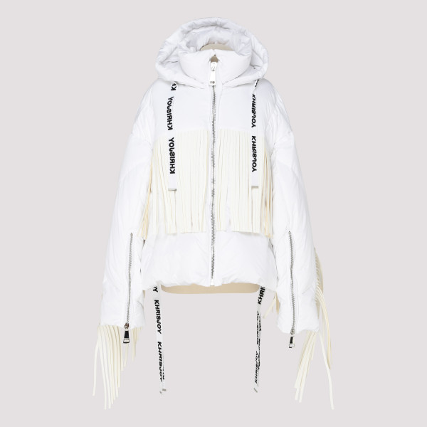 White puffer jacket with...