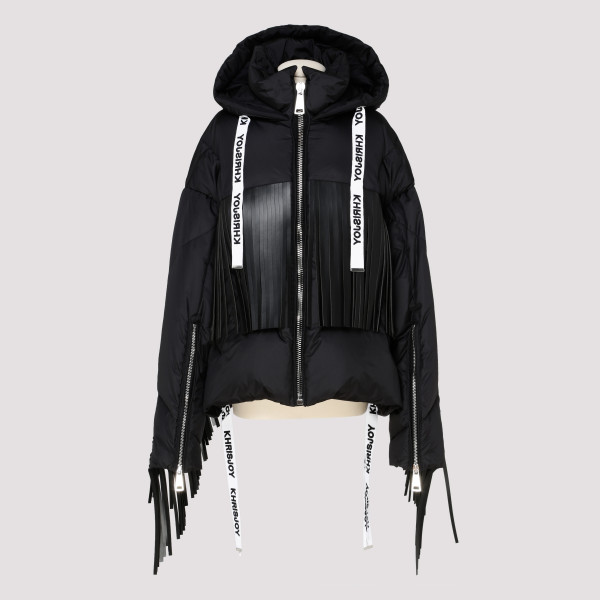 Black puffer jacket with...