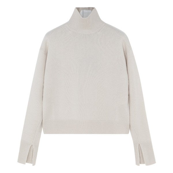 White wool and cashmere sweater