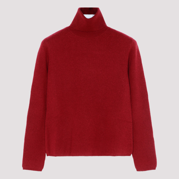 Burgundy cashmere and wool...