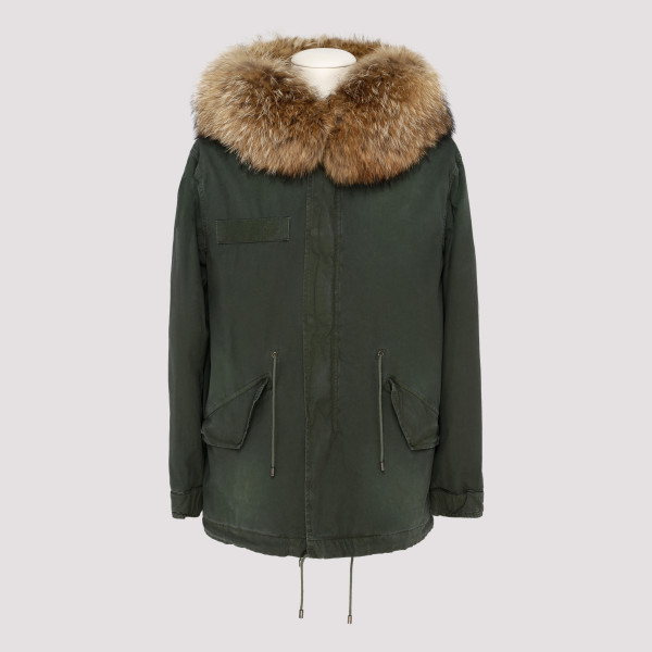 Army green Jazzy mini parka