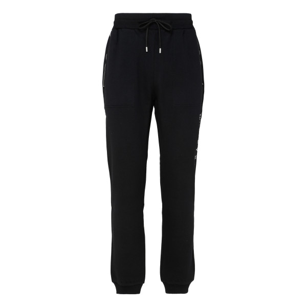 Black side logo track trousers