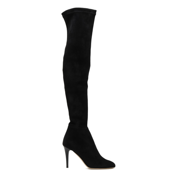 Toni black suede over-the-knee boots