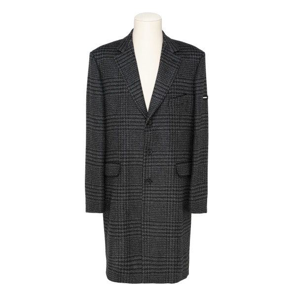 Prince of Wales wool coat