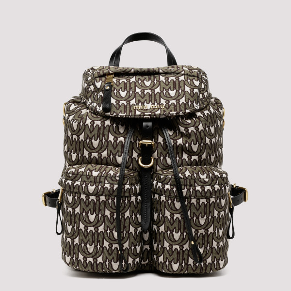 Logo canvas backpack