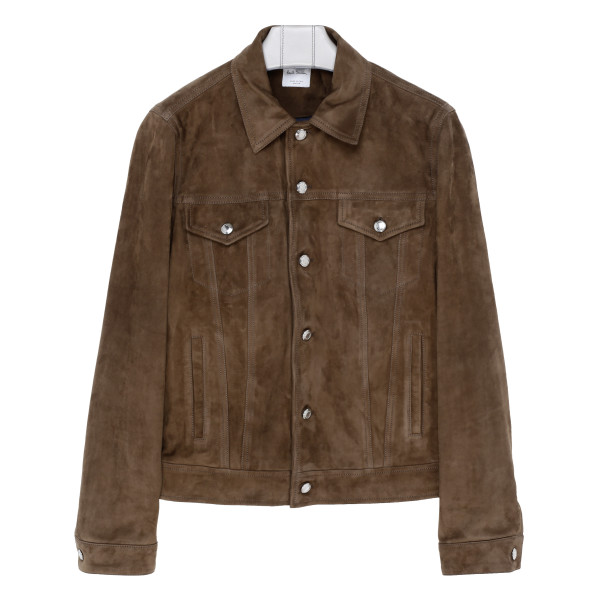 Brown suede leather jacket