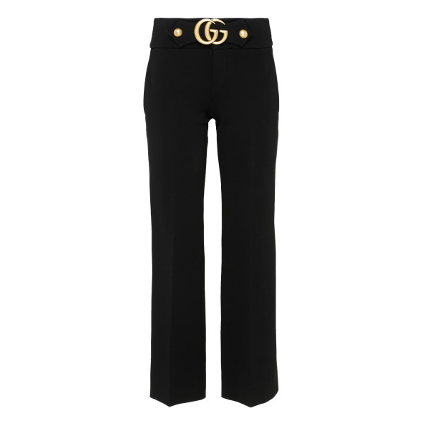 Stretch viscose trousers with Double G