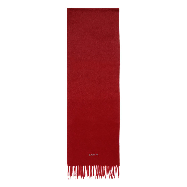 Burgundy fringed scarf