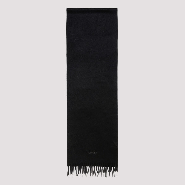 Black fringed scarf