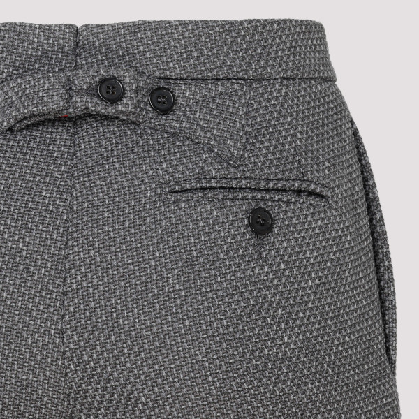 Gray cotton and wool blend pants