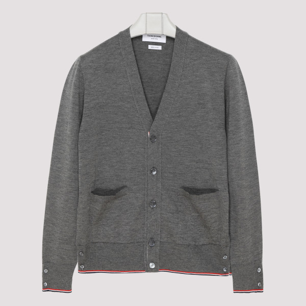 Classic gray cashmere cardigan