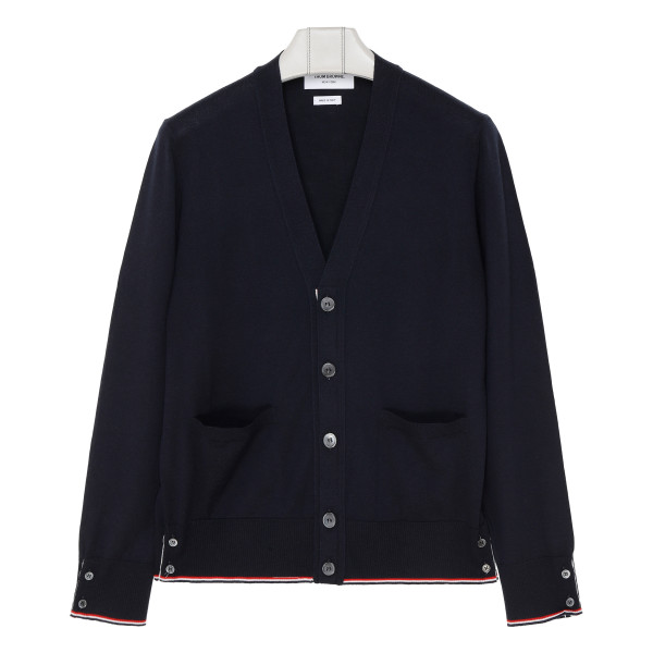 Navy blue cashmere Classic cardigan