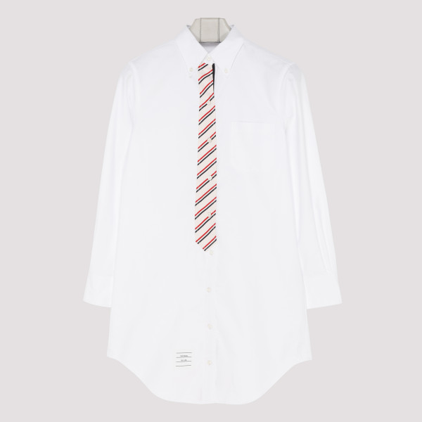 White Oxford shirt with...