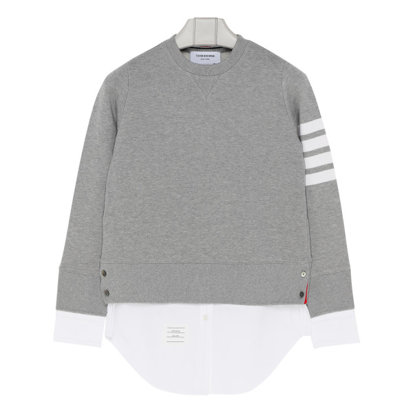 4-Bar loopback jersey sweatshirt