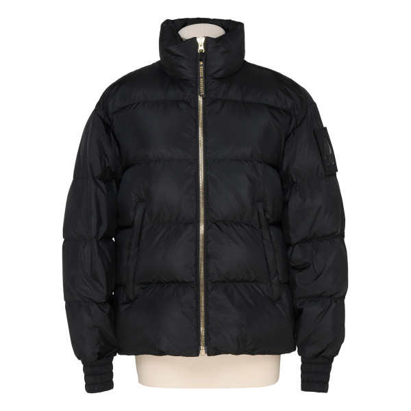 Lumsden black nylon down jacket