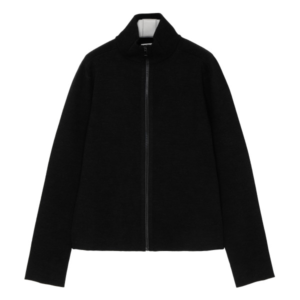 Black viscose-blend jacket