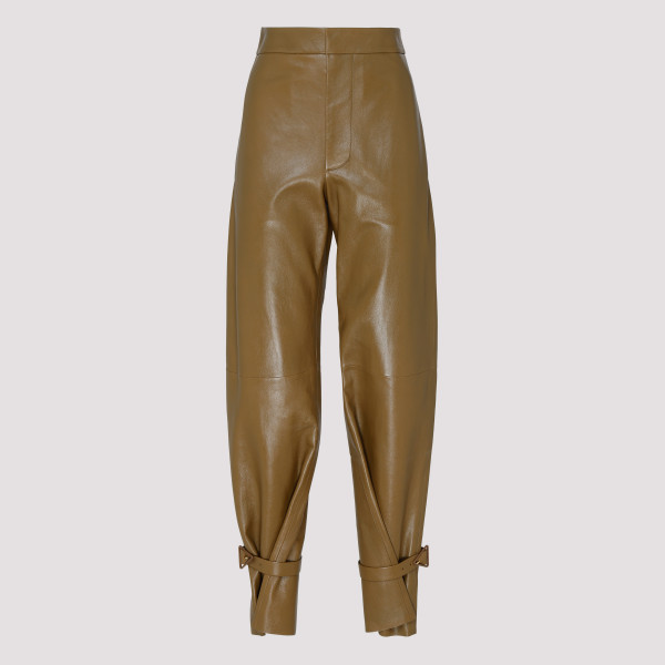 Cappuccino leather pants