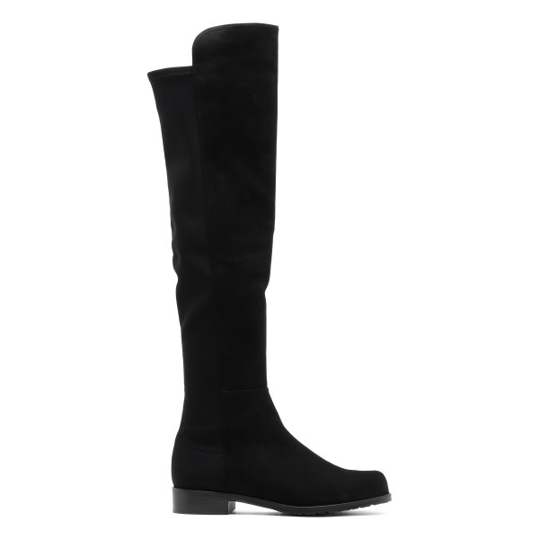 Black suede over-the-knee 5050 boots