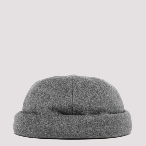 Gray Wool-cashmere blend...